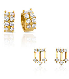 Buy Combo of Classic Bali Hoop Stud Earrings for Women jewellery-combo online