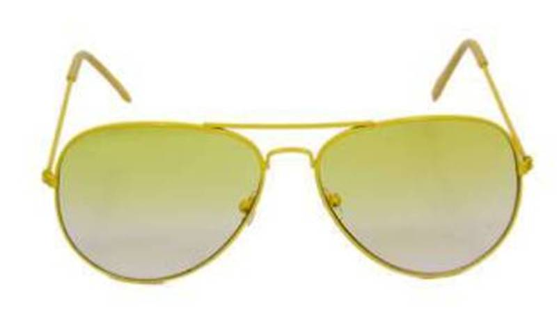 Glasses With Yellow Frame : Buy Yellow Frame Light Yellow Lens Aviator Sunglasses Online
