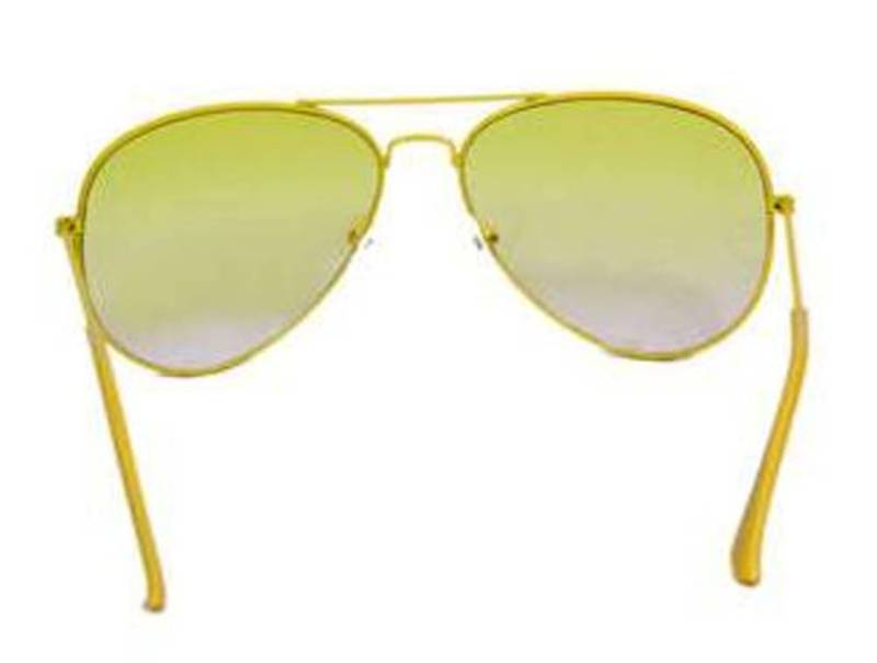 Buy Yellow Frame Light Yellow Lens Aviator Sunglasses Online