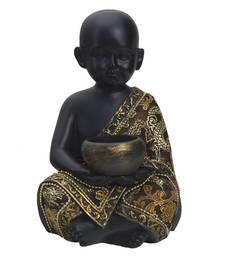 Buy Cute & Charming Golden Black Finish Small Child Statue Showpiece housewarming-gift online