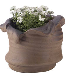 Buy Contemporary Pattern Brown Ceramic Planter Pot housewarming-gift online