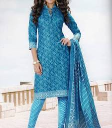 Buy Crepe dress material elegant designer unstitched salwar suit d.no 7155 dress-material online
