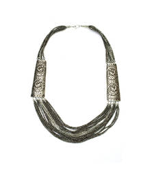 Buy Silver Peacock Alloy Necklace Necklace online
