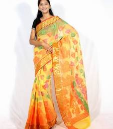 Buy Organza banarasi zari border Multi saree cotton-saree online