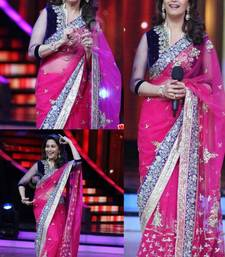 MADHURI DIXIT BOLLYWOOD PINK NET SAREE shop online