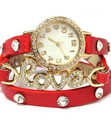 Buy Fency Bracelet Watch-Love Diamond (Red) gifts-for-girlfriend online