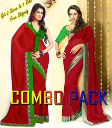 Buy BOLLYWOOD COMBO PACK OFFER PARTYWARE SAREE chiffon-saree online