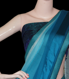 Buy shaded blue brasso-saree online