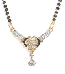 Multicolor gold plated Cubic Zirconia mangalsutra shop online