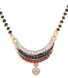 Buy Multicolor gold plated Cubic Zirconia mangalsutra mangalsutra online