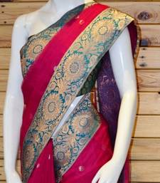 Buy ROYAL in PINK net-saree online