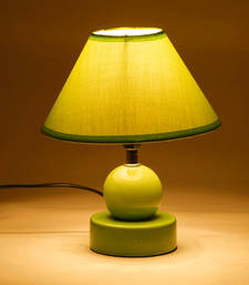Buy Green Hut Shade Ceramic Base Table Lamp table-lamp online