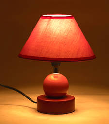 Buy Purple Hut Shade Ceramic Base Table Lamp table-lamp online