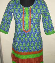 Buy Blue coloured kurti kurtas-and-kurti online