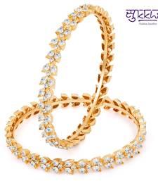 Buy Sukkhi Alluring Gold & Rhodium Plated AD Bangle bangles-and-bracelet online