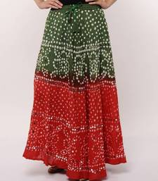 Buy Ethnic Cotton Bandhej Skirt skirt online