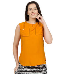 Buy Orange plain Earth tunics tunic online