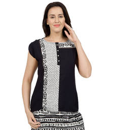 Buy Black printed Georgette tunics tunic online