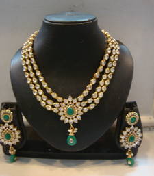 Buy designer bridal set with earrings eid-jewellery online