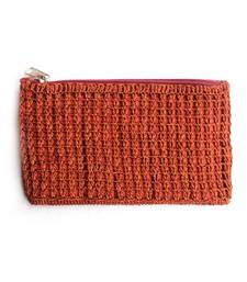 Buy Crochet Clutch in Brown clutch online