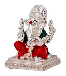 Buy Silver Plated Ganesh Idol congratulation-gift online