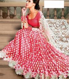Buy Pink net embroidered lehenga choli lehenga-choli online