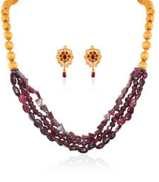 Buy Amazing Gold plated contemporary set necklace-set online