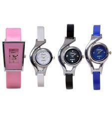 Buy Glory Combo Of 4 Multicolour PU Analog Watch gifts-for-girlfriend online