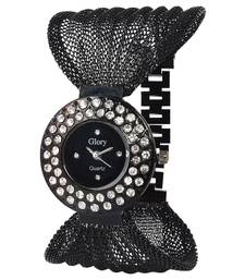Buy Glory Black Metal Round Dial Analog Watch gifts-for-her online