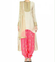 Buy White cotton embroidered semi stitiched salwar with dupatta pakistani-salwar-kameez online