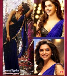 Buy Bollywood Replica Deepika Padukone Designer chiffon saree deepika-padukone-saree online