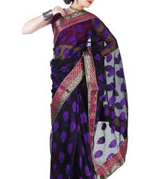 Buy Black Banarsi Cotton New Designer Saree banarasi-silk-saree online