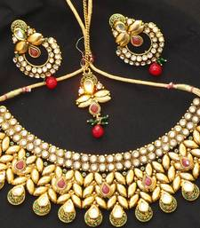 Buy Designer Kundan neck set Necklace online