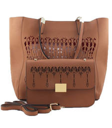Buy Brown fashion tote bag gifts-for-girlfriend online