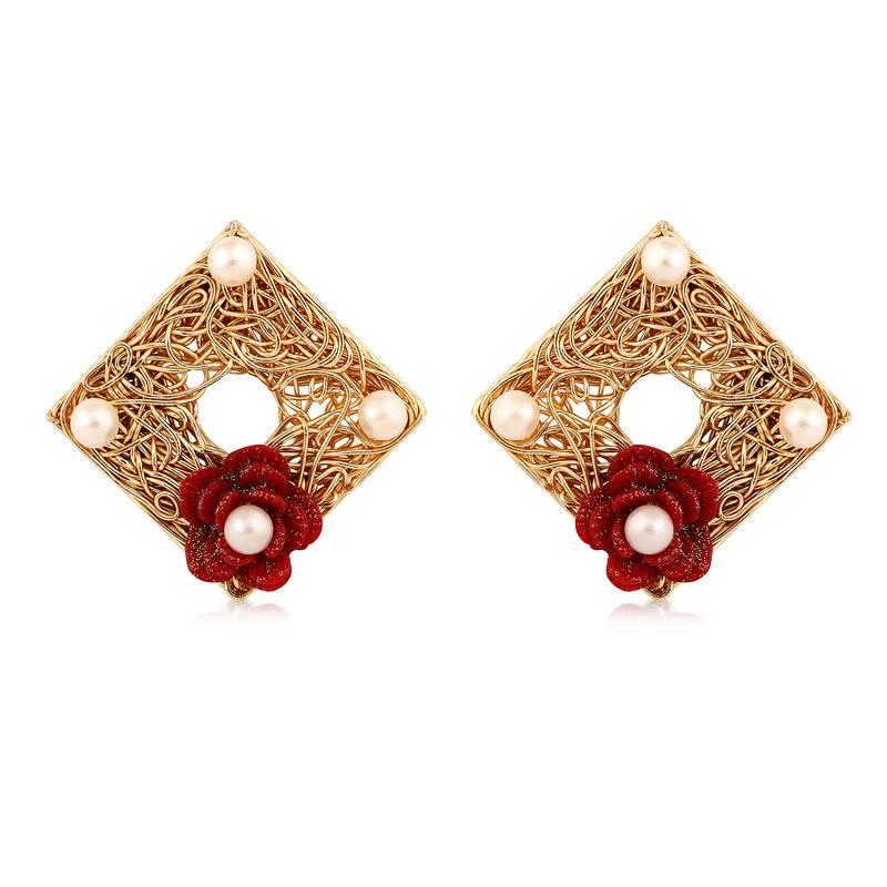 Man Made Diamond Earrings Studs