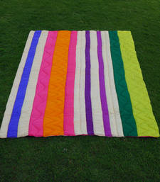 Buy stripe multi colored quilt quilt online