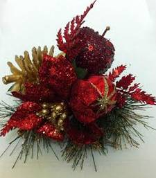 Buy Christmas red  glitter apple christmas-gift online