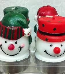 Buy Christmas Snowman candles candle online