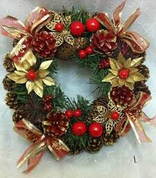 Buy Christmas pine cone wreath christmas-gift online