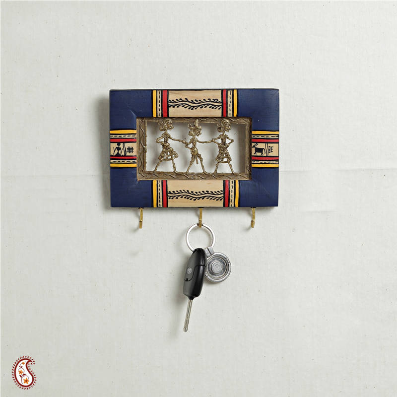Small Key Wall Decor : Buy dhokra work key holder small