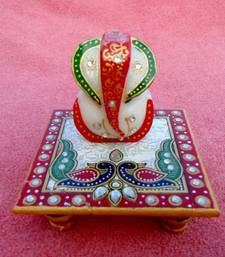 Buy MARBLE CHOWKI GANESH other-home-accessory online