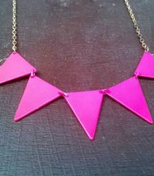 Buy Pink Neon Trace Necklace Necklace online
