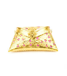 Buy Gold brass brasso clutches clutch online