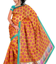 Buy Pavecha's  Chettinad Polka Embroidered Sari MK611 cotton-saree online