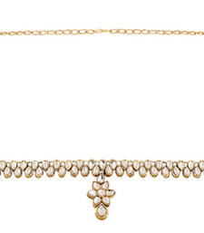 Buy Astonishing Gold Plated Kundan KamarBand For Women waist-belt online