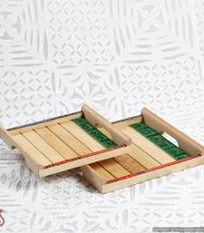 Buy Explicitly pleasing handcrafted wooden trays  tray online