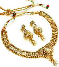 Buy Divinique  Pearl Polki Necklace set necklace-set online