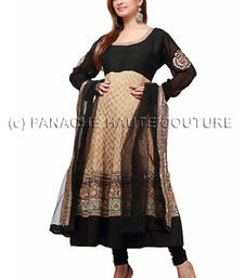 Smashing black & beige georgette suit shop online