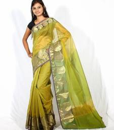 Buy Supernet cotton fancy  banarasi zari border saree cotton-saree online