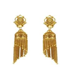 Buy Heena Temple collection golden earings @ HJER10 jhumka online